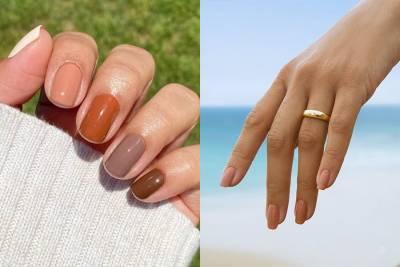 美甲早秋大勢,色系跳脫一貫高級感的大地色,以沙灘 古銅肌為靈感的彩繪指甲2021提案