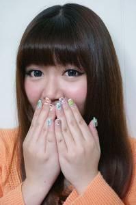 【光療】東區晶漾美甲沙龍~夢幻Laduree馬卡龍跑到指甲上了 全手繪 !