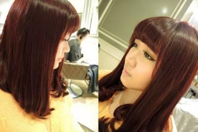 【美髮】BONBON HAIR過年換個紫紅深髮色+定期一定要來做的「結構式護髮」