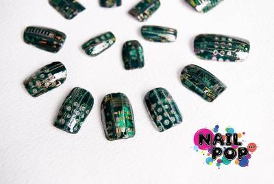 指彩 你沒看過的指彩!電路板造型