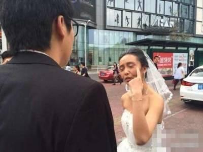 帥新郎開不起玩笑,婚姻吹了!