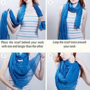 今秋圍巾絲巾最全打法,多圖分解一看就會!