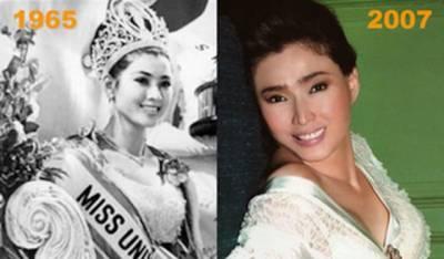 泰國選美小姐凍齡...67歲跟當年長的一樣!