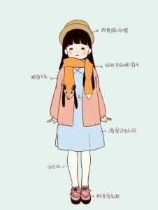 冬季服裝搭配圖解~超實用的可愛繪圖