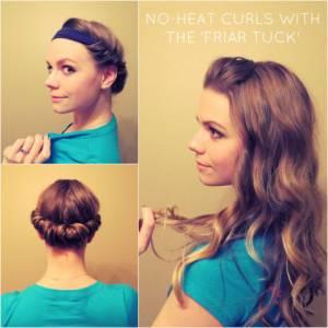 """什麼""""自然""""的捲髮都是假的啦!只要前一天這樣就可以了 >"""