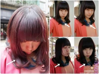 ▌頭髮 ▌台北市。中山區 ♥ BonBon Hair 染髮日記。藍色挑染初體驗|設計師Eiko