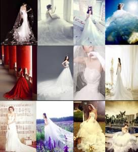 每個姓氏都是一套婚紗,快看看你的婚紗有多美...