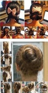 最好看的女孩盤髮髮型教學,手殘女也沒問題喔!!太美了吧~~