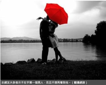 網語:女生會留戀第一個男人? 網友秒回:一點也不