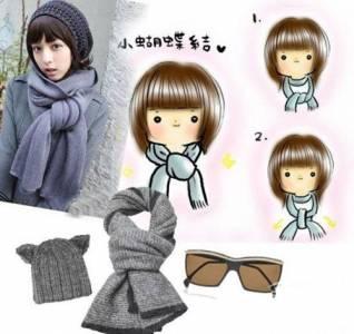 超簡單!一看就會!圖解示範圍巾6大繫法,讓你溫暖美麗過寒冬!!!