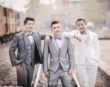 小編已瞎!泰國三名男子因互相有感覺而結婚 ,一系列婚紗照實在是看醉了!