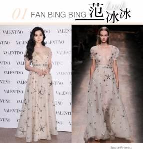 裸色時尚:范冰冰 李聖經 Tiffany,裸色禮服界的Hold住姐
