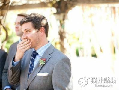 新郎看到新娘穿婚紗的九個感動瞬間!我的最愛,妳太美了~~