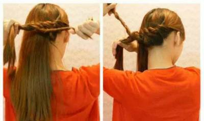 轉一轉卷一卷!超簡單的流行韓式編髮就完成了!五分鐘化身辦公室女神!