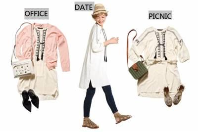 多變洋裝提案:原來還能這樣穿,一件抵三件的洋裝穿搭法│恰女生