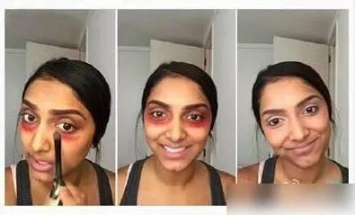 這女孩一口氣將「口紅」塗在眼周,過沒多久,竟然發生這種事!不敢想像我看到了什麼...
