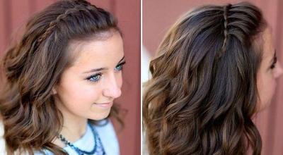 她抓了一撮頭髮然後將它撥到一邊,接下來的2分鐘她就編出「你會立馬想要」的造型!