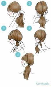 3分鐘內簡單就能打造出髮型◎時髦又可愛的扭轉式編髮♡