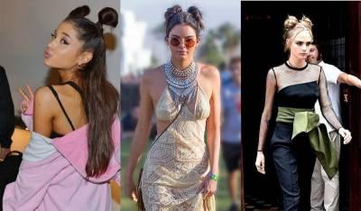 誰說只有小小女孩才能hold住?!歐美女神 Cara Kendall Jenner 示範最夯的「雙丸子頭」...