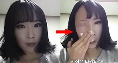 韓國正妹一「卸妝」後,眼睛竟然被擦掉了!搞什麼這太恐怖了吧....尤其最後一幕!